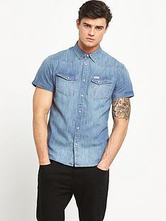 wrangler-heritage-western-short-sleevednbspdenim-shirt