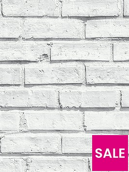 arthouse-white-brick-wallpaper