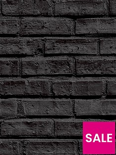 arthouse-black-brick-wallpaper