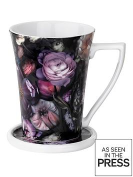 ted-baker-shadow-floral-flared-mug-and-coaster