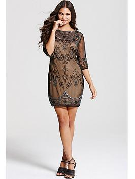 Little Mistress Mocha Lace Embroidery Overlay