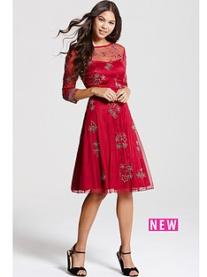 little-mistress-little-mistress-red-embroidered-skater-dress