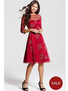 little-mistress-little-mistress-red-embroidered-skater-dress