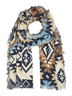 river-island-aztec-print-scarf