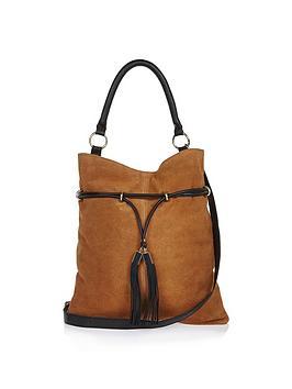 river-island-leather-gathered-slouch-shoulder-bag