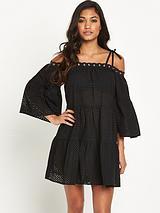 Smock Crochet Beach Dress