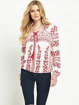 Long Sleeve Lace Up Jersey Top