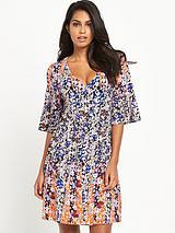 Kimono Wrap Jersey Dress