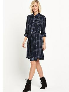 river-island-belted-check-shirt-dress
