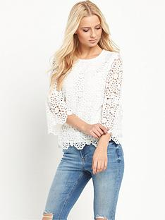 v-by-very-lace-fluted-sleeve-topnbsp