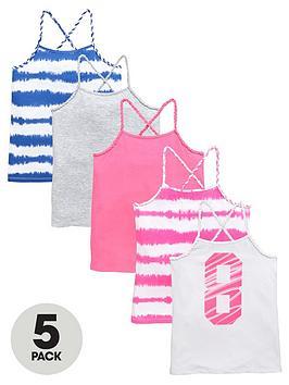 v-by-very-girls-tie-dye-vests-5-pack