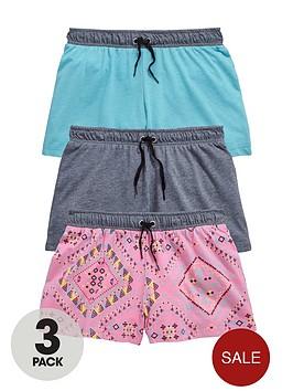 v-by-very-girls-aztec-shorts-3-pack