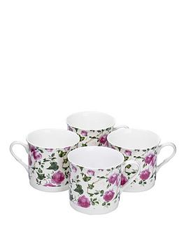 pink-rose-4-piece-afternoon-tea-mugs