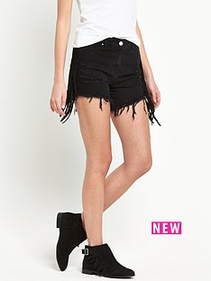 v-by-very-side-fringed-denim-shorts