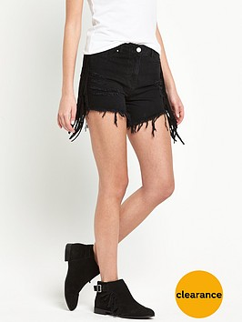 v-by-very-side-fringed-denim-shorts