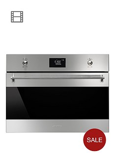 smeg-sf4390mcx-60cm-built-in-electric-microwave-oven
