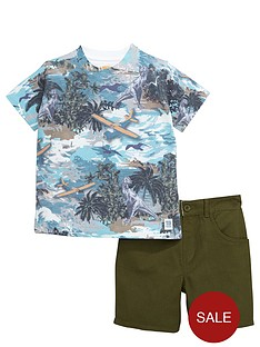 ladybird-boys-dinosaur-t-shirt-and-denim-shorts-set