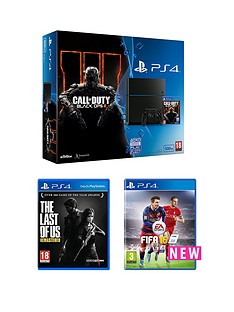 playstation-4-500gb-console-with-call-of-duty-black-ops-3-and-the-last-of-us-and-fifa-16
