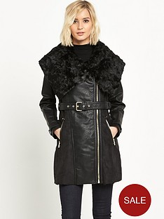 river-island-faux-shearling-belted-coat