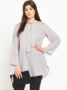 ax-paris-curve-tie-blouse