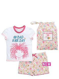 ladybird-girls-bad-hair-day-shortienbsppj-set-with-bag