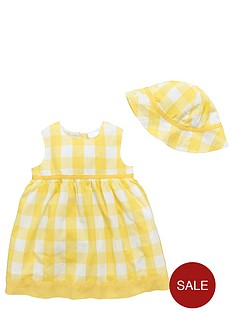 ladybird-baby-girls-gingham-woven-summer-dress-and-hat-set