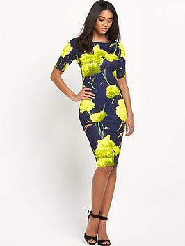 ax-paris-short-sleeve-floral-midi-dress
