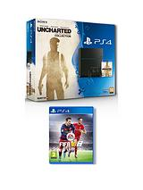 500Gb Console with Uncharted Collection and FIFA 16