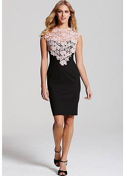 Paper Dolls PAPER DOLLS BLACK SLEEVELESS DRESS WITH PINK LACE TOP