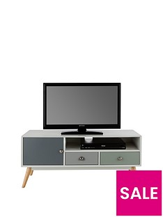 Ideal Home Orla Retro TV Unit - fits up to 50 Inch TV