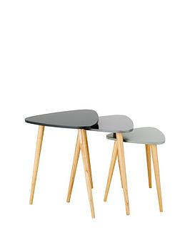 Product photograph showing Orla Retro Nest Of Tables