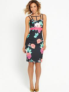 myleene-klass-floral-print-bodycon-dress