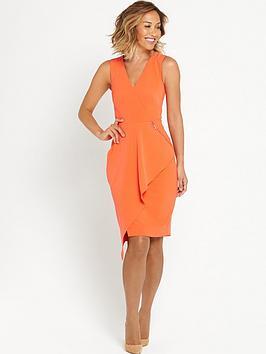 myleene-klass-ruffle-front-pencil-dress