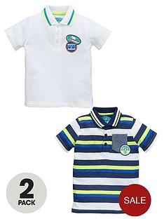ladybird-boys-stripe-and-slubnbsppolo-shirts-2-pack