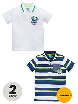 ladybird-boys-stripe-and-slubnbsppolo-shirts-2-pack