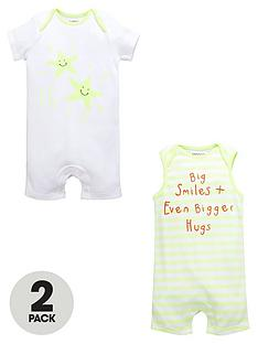 ladybird-baby-unisex-stripe-and-star-rompers-2-pack
