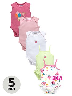 ladybird-baby-girls-summer-brightsnbspbodysuits-5-pack