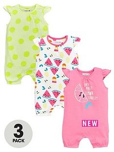 ladybird-baby-girls-3pk-summer-brights-rompers