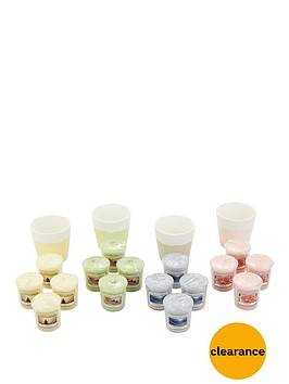 yankee-candle-16-classic-votives-with-4-pastel-votive-holders