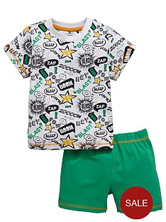 ladybird-boys-cartoon-sublimation-shortynbsppyjamas