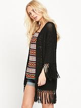 Crochet Fringed Cardigan