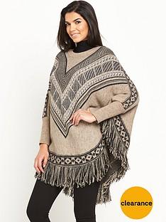 v-by-very-patterned-fringe-poncho