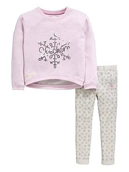 Skechers Girls Snowflake Sweater and Joggers Set (2 Piece)