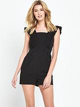 Pleated Front Playsuit