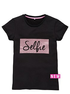 v-by-very-girls-selfie-glitter-print-tee