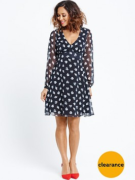 myleene-klass-heartnbspprint-tie-back-tea-dress