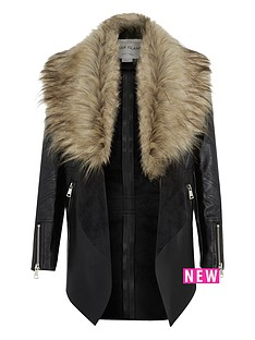 river-island-girls-pu-waterfall-jacket-with-fauxnbspfur-collar