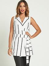 Sleeveless StripedWaistcoat