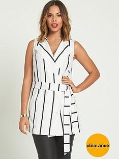 rochelle-humes-sleeveless-stripednbspwaistcoat