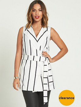 rochelle-humes-sleeveless-stripednbspwaistcoat